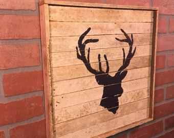 Deerhead, Deer Head, Rustic wall decor,  Farmhouse, Farmhouse decor, Rustic home decor