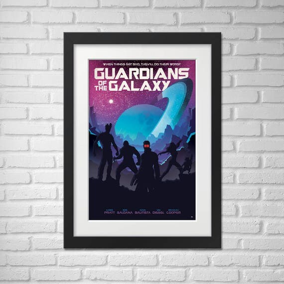 Guardians of the Galaxy Movie Poster Illustration [Guardians of the Galaxy Movie Poster / Guardians of the Galaxy]