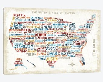 Children Usa Map Etsy Cute Us Map