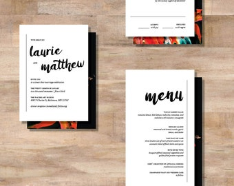L+M Wedding Invitation Suite