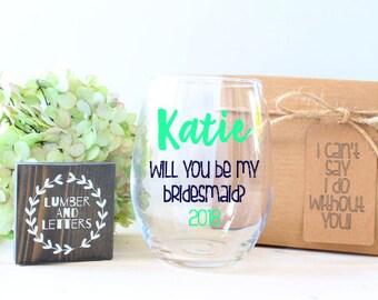 Bridesmaid Gift - Will You Be My Bridesmaid - Bridesmaid Proposal - Gift for Maid of Honor - Maid of Honor Gifts - Maid of Honor Proposal