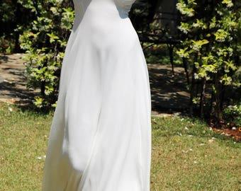 Bridal white dress, Long Dress, Prom dress, Evening dress, Wedding dress, Wedding long dress, Maxi white dress, V neck dress, White dress