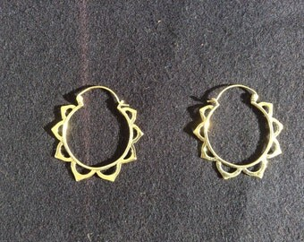 Bronze Sun earrings