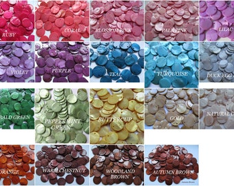 25x Mother of Pearl (Dyed) Charm Beads Shell Counters ~ Jewellery / Jewelry Making Rainbow Colours / Colors 20mm Round Counter Discs