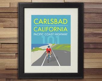 Bicycle Art - Carlsbad California Pacific Coast Highway 101