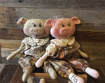 Little Flo and Mo Piglet Doll