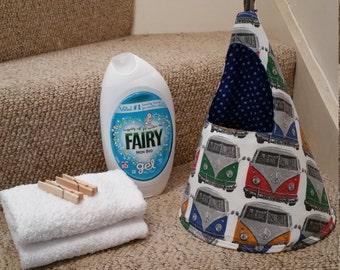 peg bag, vw campervan peg bag, vw, clothes pin holder, mothers day gift, campervan storage, laundry