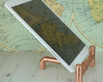 Modern, Copper Ipad Stand Lean Back