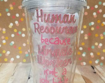 HR Gift - HR Tumbler - Human Resources