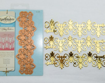 Spellbinders Twisted Palm die cut, gold paper, embellishement, for cards, scrapbooking
