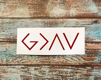 GOD is Greater Than the Highs and Lows Decal | 30 Colors