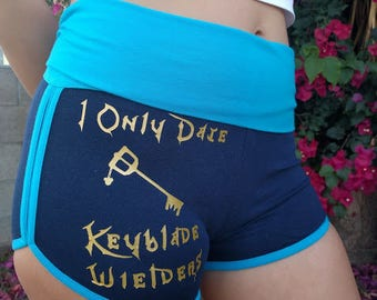 Kingdom Hearts Yoga Shorts, Gym Shorts, Running Shorts, Keyblade, Sora