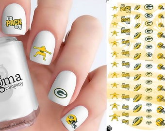 Green Bay Packers Nail Decals (Set of 89)