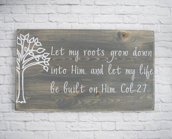 Christian Wood Sign Bible Verse Wall Art Scripture Wall