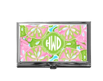Monogram Business Card Case | Personalized Case | Boss Gift | Coworker Gift | Custom Card Holder | Stocking Stuffer | Personalized Gift
