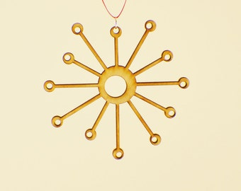 Laser Cut Wood Snowflake Ornament - Design #6 - 50% off