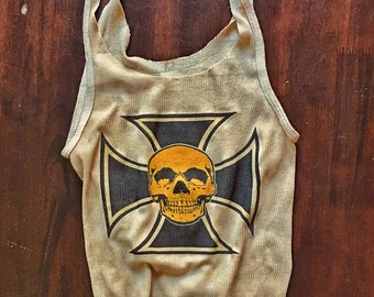 Iron Cross & Skull Tank Top