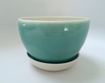 Blue Celadon Planter, Flower Pot (Large)