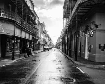 New Orleans Photography, French Quarter, Black and White Photography, Street Photography, Fine Art Photography, French Quarter Street