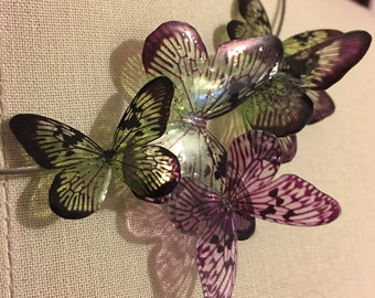 """Collar Torque to butterflies """"stained glass moth"""""""