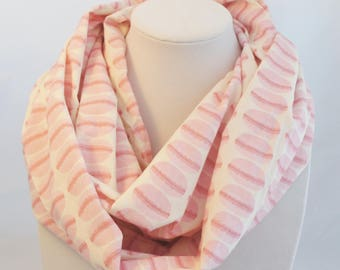 Macarons scarf,  infinity scarf, summer scarf, Teen gift, pink scarf, gift for geek, Kawaii gift, Cosplay, Kawaii, Manga, Japanese print