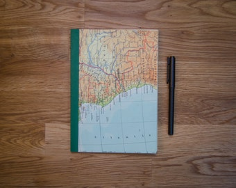 Notebook DIN A5 HOLDS with vintage country map