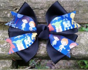 Star Wars Hair bow (luke, leia, darth vader, r2d2, yoda) 4 inch