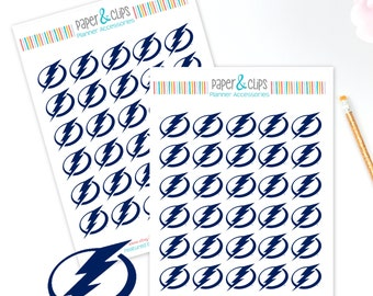 30 Tampa Bay Lightning Hockey Reminder or Planner Stickers
