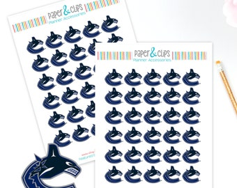 30 Vancouver Canucks Hockey Reminder or Planner Stickers