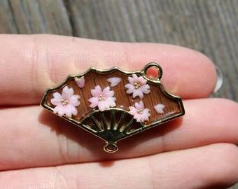 sakura bezel charm, sakura bezel, japanese style bezel, cute bezel, open bezel charm