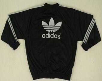 Vintage Adidas Jacket Adidas Track Jacket Adidas Track Top Adidas Trefoil Jacket Adidas Big Logo Spell Out