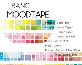 Color Washi Tape Color grid,scrapbook stickers,DiY,Paper Decorative masking Tape