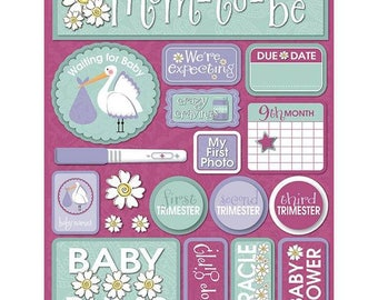 Signature Series Dimensional Cardstock Stickers Pregnancy