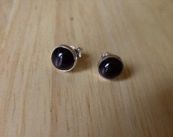 Stud Earings Black Onyx Stud Earings Stone Earings