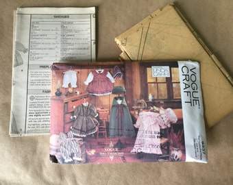 Vogue Craft Pattern 8337 Doll Collection Doll Clothing Pattern for 18 Inch Doll by Linda Carr Uncut