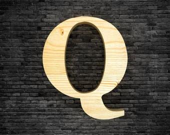 Wood - Q letters
