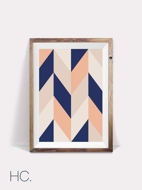 Geometric print minimalist wall decor scandinavian print for Minimalist wall decor
