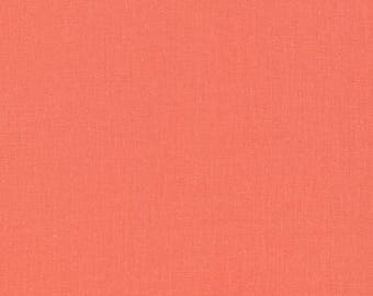 CLEARANCE Cloud9 Cirrus Solid Salmon, Organic Fabric, Modern Quilt, Modern Fabric, Broadcloth, Yarn Dye
