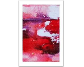 Handmade Abstract Artwork, Red Purple Original Abstract Painting, Acrylic Painting, Red Painting, Unique Gift for Girlfriend, Christmas Gift