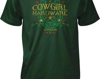 Cowgirl Hardware, Lucky Horseshoe Men's T-shirt, NOFO_00457