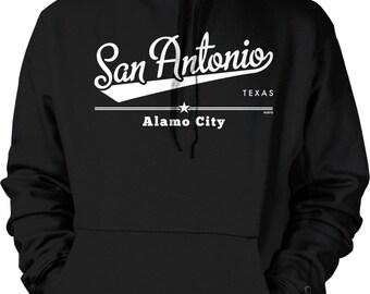 San Antonio, Texas, Alamo City Hooded Sweatshirt, NOFO_00881