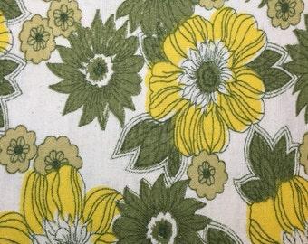 Cotton Flannelette Sheet - Genuine Vintage