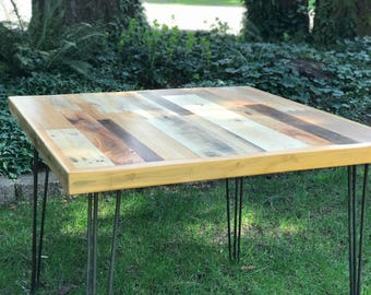 Reclaimed Wood Kitchen Dining Table on Hairpin Legs