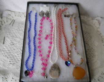 Vintage Jewelry Lot Necklaces Earrings #907