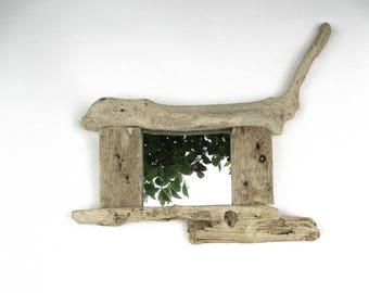 Wall Mirror - Driftwood Mirror - Nautical Mirror - Reclaimed Wood Mirror - Recycled - Wooden Mirror - Beach Mirror - Rustic Mirror - Quirky