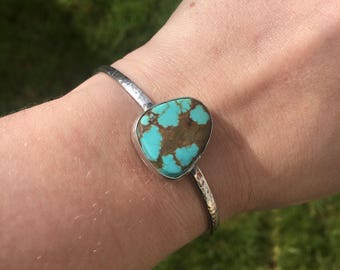 Turquoise textured bangle