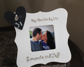 Engagement Picture Frame: Countdown to the Big Day!