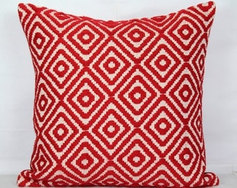 Red throw pillow covers 24x24 pillow covers 20x20 pillow covers 18 x 18 cushion cover 26x26 pillow cover decorative christmas pillows case