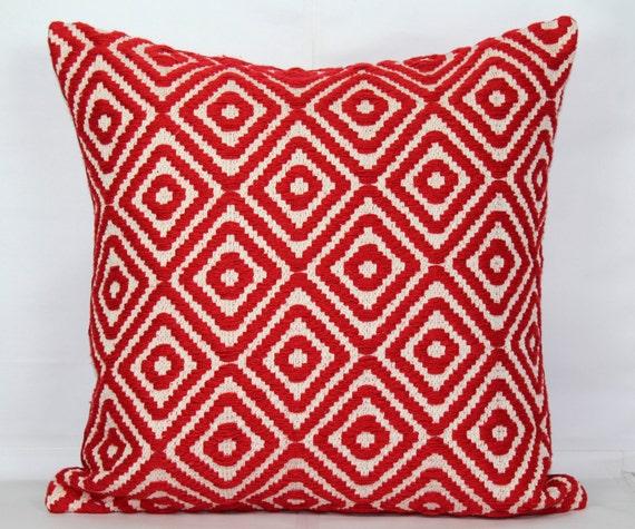 Red throw pillow covers 24x24 pillow covers 20x20 pillow