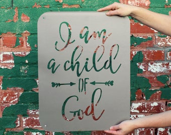 I am a Child of God Metal Wall Decor
